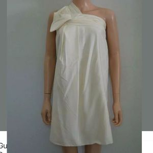 Preowned Gucci ISilk Shantung One Shoulder Dress